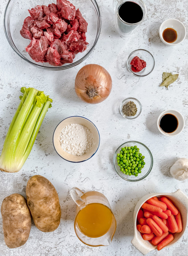 Ingredients for Instant Pot Chunky Beef Stew